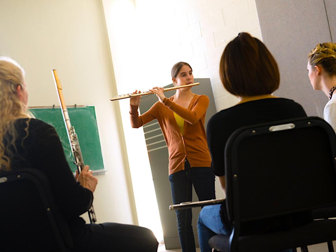 students playing flute