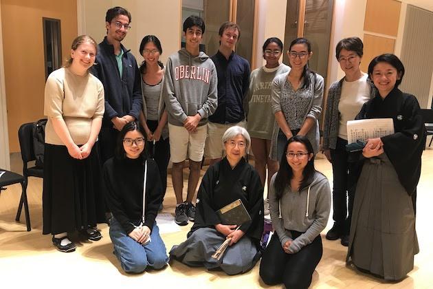 Students and Noh actors.