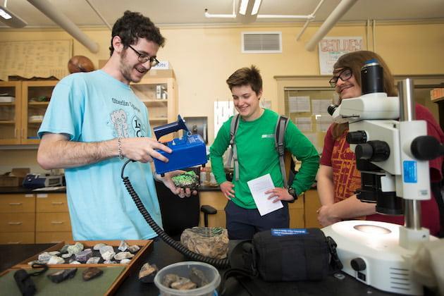 Justin Bank and Lab Crawl visitors.