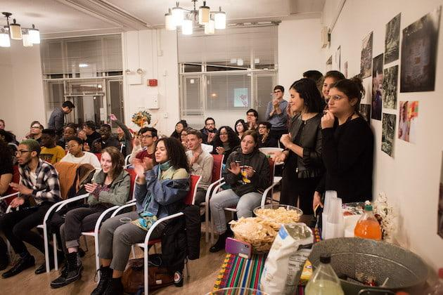 Students gather in the lounge of La Casa Hispánica.