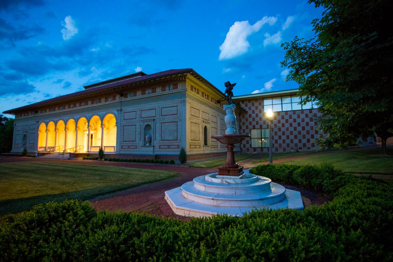 The Allen Museum at dusk.