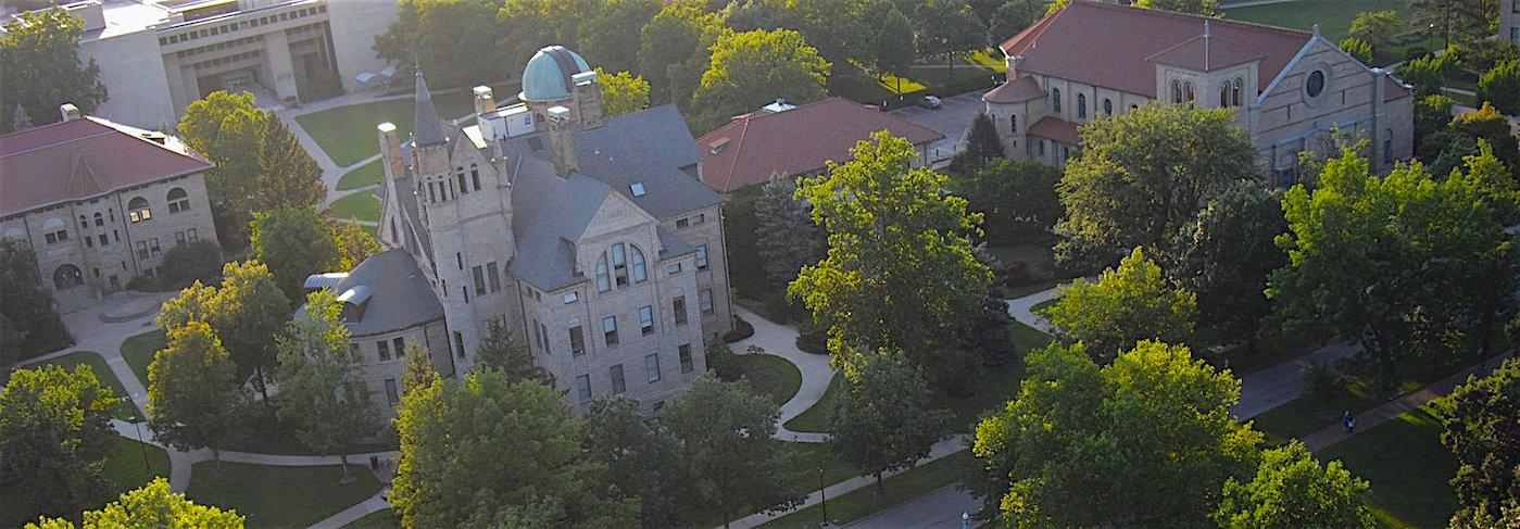 Aerial View of Peters Hall