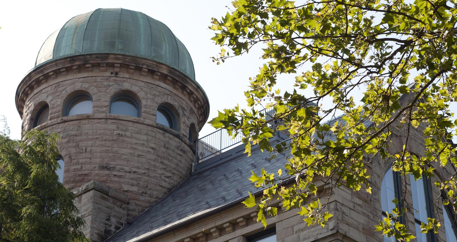 exterior image of dome of the Oberlin observatory