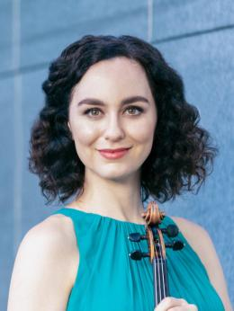 photo of violin faculty member Francesca dePasquale