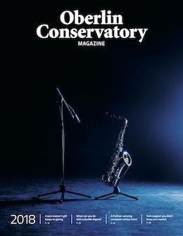 Cover of the Oberlin Conservatory Magazine 2018.