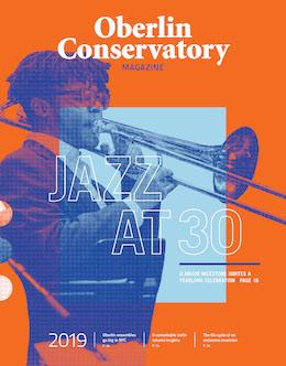Cover of the Oberlin Conservatory Magazine 2019.
