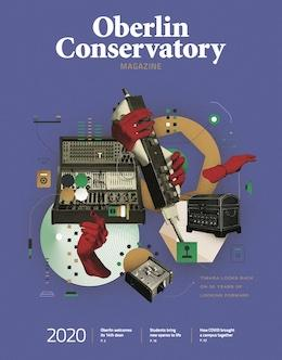 Cover of the Oberlin Conservatory Magazine 2020.