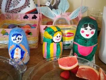 Hand-painted matryoshka dolls