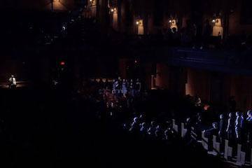 dark scene of concert.