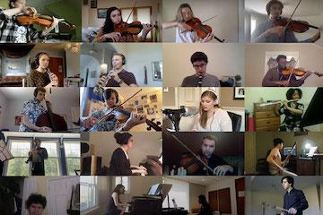 grid of group of musicians playing their instruments.