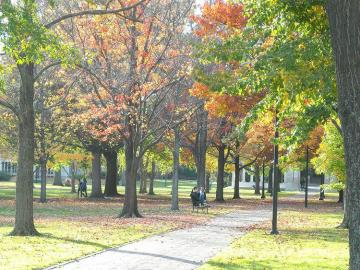 Tappan Square Along sidewalk across from Tappan Square