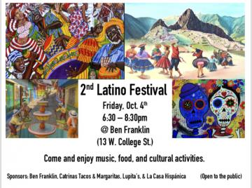 poster announcing Latin Festival