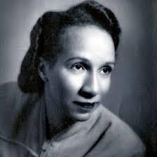black and white photo of shirley graham du bois