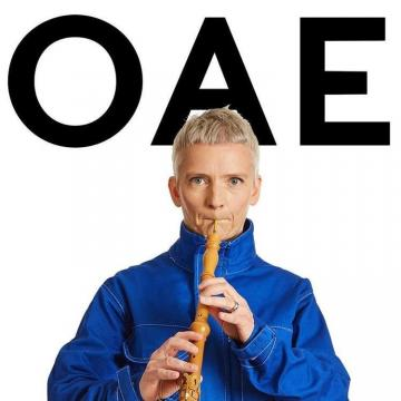 OAE member playing baroque oboe