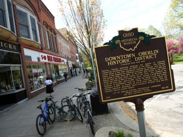 Photo of Historic Downtown Oberlin Sign