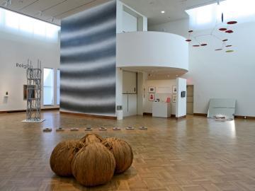 A exhibit in the Ellen Johnson Gallery