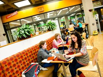 Students study in Azariah's