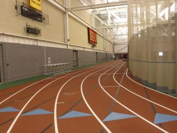 Photo of track in John W. Heisman Field House