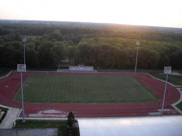 Aerial photo of Fred Shults Field