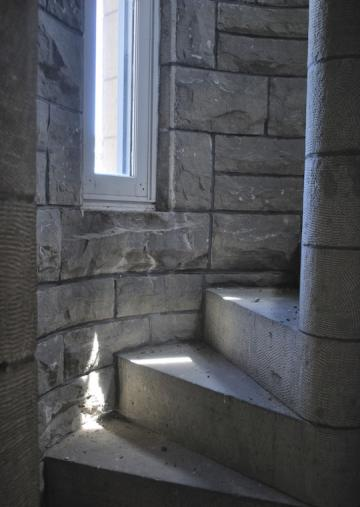 A stone staircase.
