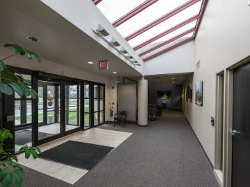 Professional Services Building lobby.