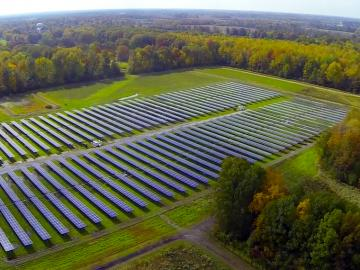 field of the solar panels