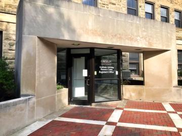 entrance to Carnegie Building