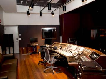 Control room of a recording studio