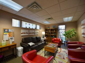 Interior photo of the counseling center