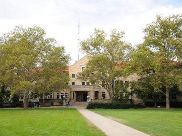 Wilder Hall view from main quad