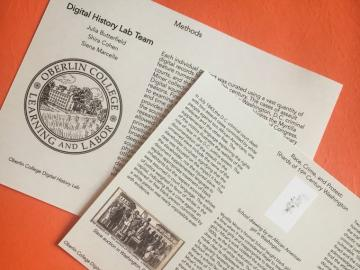 pamphlets about digital history lab.