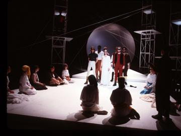 Photograph of a scene from A Midsummer Night's Dream, May 1988