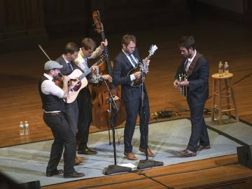 punch brothers band on Finney Chapel stage