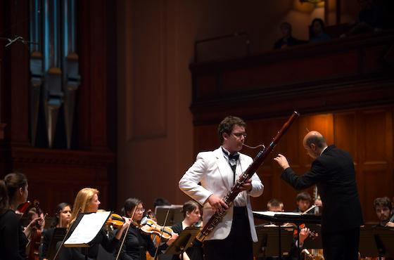 Concerto winner Carl Gardner performs with Oberlin Chamber Orchestra.