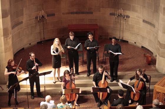 students in concert in chapel