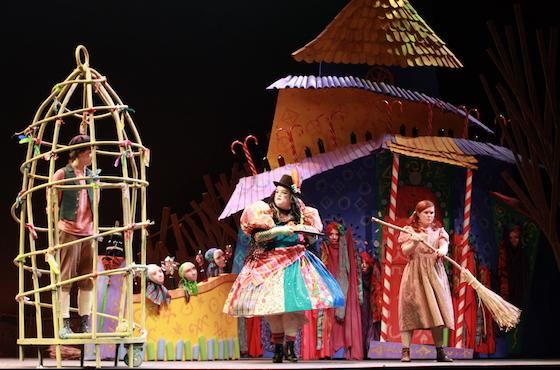 opera theater show hansel and gretel with hansel and witch