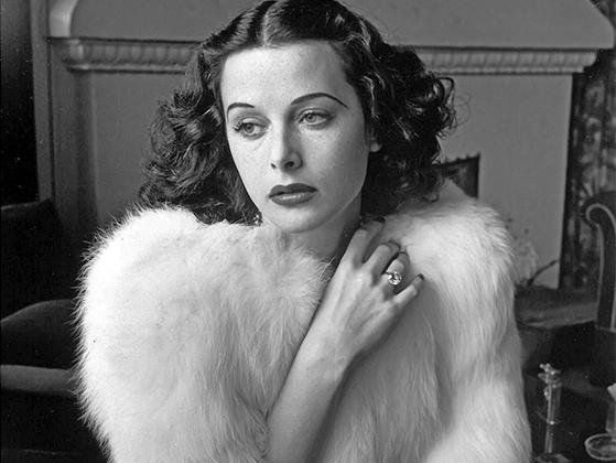 Black-and-white movie actress