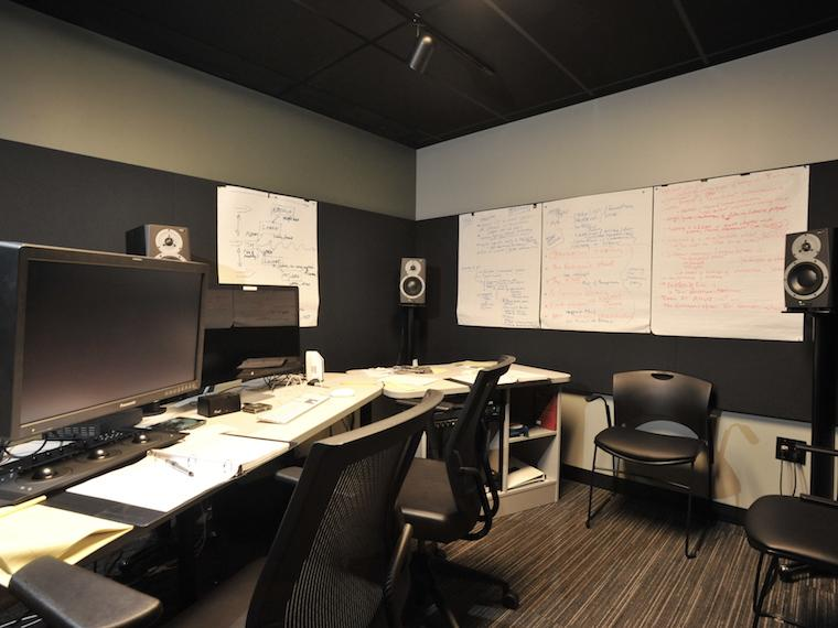 image of editing and production space