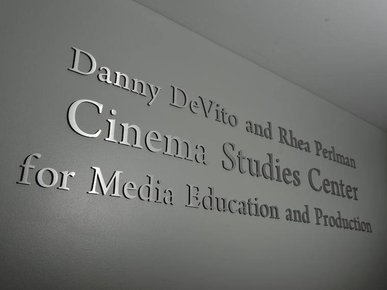 plaque honoring Danny DeVito and Rhea Perlman