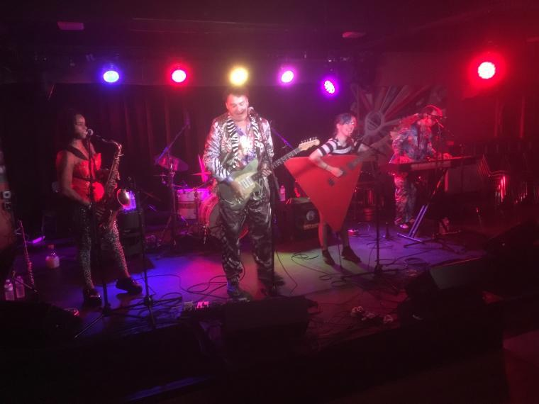 Rock band the Red Elvises play at Oberlin's Dionysus Disco