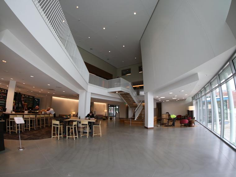 Photo of the lobby at the Hotel of Oberlin