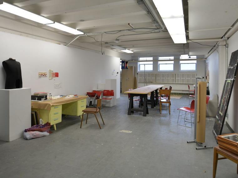 Photograph of an art studio