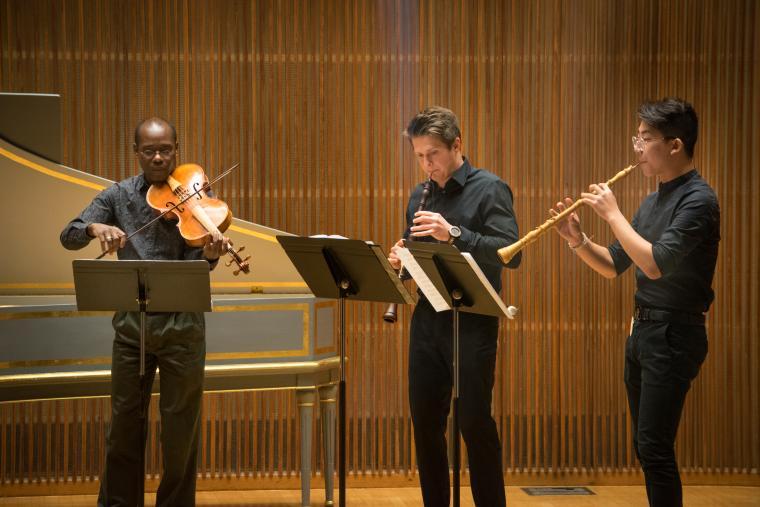 Baroque Performance Institute participants in recital.