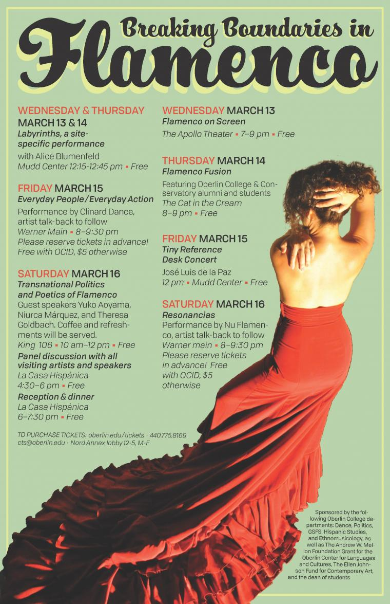 A poster containing the schedule of events. Visit the preceding link for the schedule.
