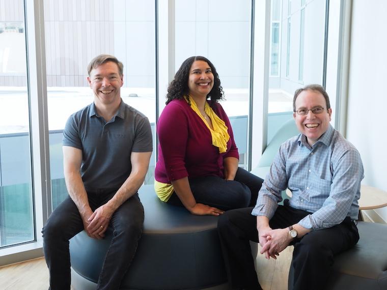 Photo of Todd Ganson, Leslie Kwayke, and Arnie Cox