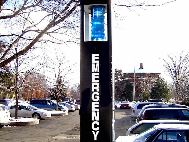 Photo of the Emergency Telephones on Campus