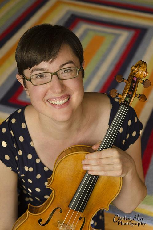 Molly Gerbian holding her viola
