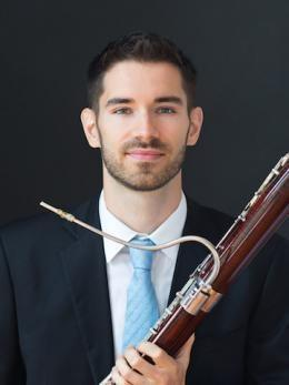 Drew Pattison with bassoon