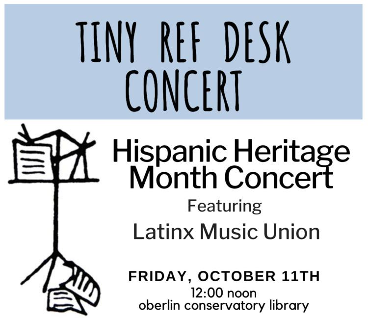 Tiny Ref Desk Concert poster announcing date Friday, Oct 11, 2019 12 noon