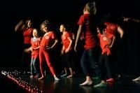 Girls performing in matching t-shirts